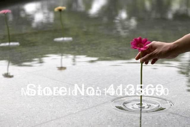 Free shipping floating ripple vases make flowers dance on water handmade glass vase