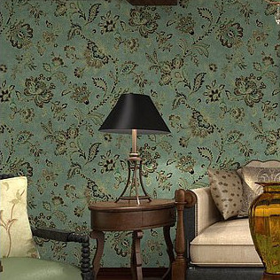 Vinyl Vintage Country Style Wallpaper For Living Room Floral Wall Papers Home Decor Wallpaper