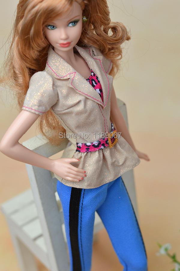 Prime Jacket + Blue Pant / 1 Set Profession Attire Swimsuit Clothes Equipment For 1/6 Kurhn Barbie Doll Ladies Birthday Reward