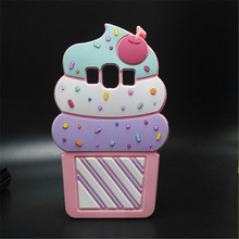 3D Soft Cute Cartoon Silicon Ice Cream Case Samsung Galaxy J1 J2 J3 J5 J7 ACE E5 E7 A5 A7 G5308 G360 Capa Para Funda - Lucy Shop store