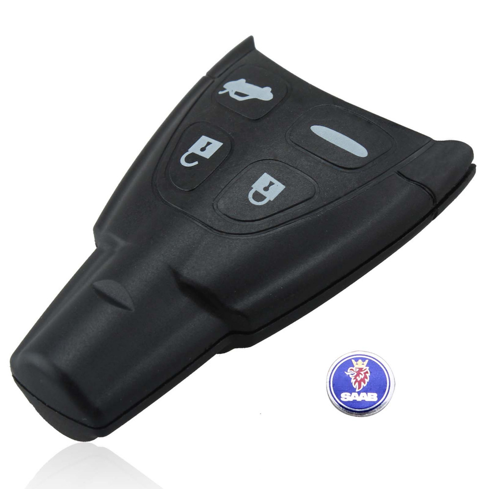 New Blank Remote Key Shell Case with LOGO For SAAB 9-3 9-5 93 95 2009 4 Buttons(China (Mainland))