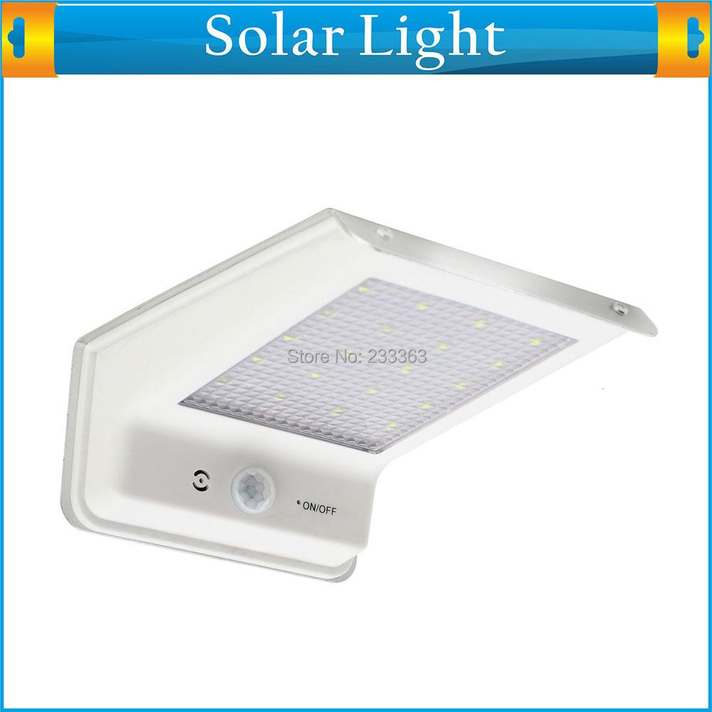 Led Outdoor Light Solar: 20 LED Solar Powered Panel LED Street Light Solar Sensor