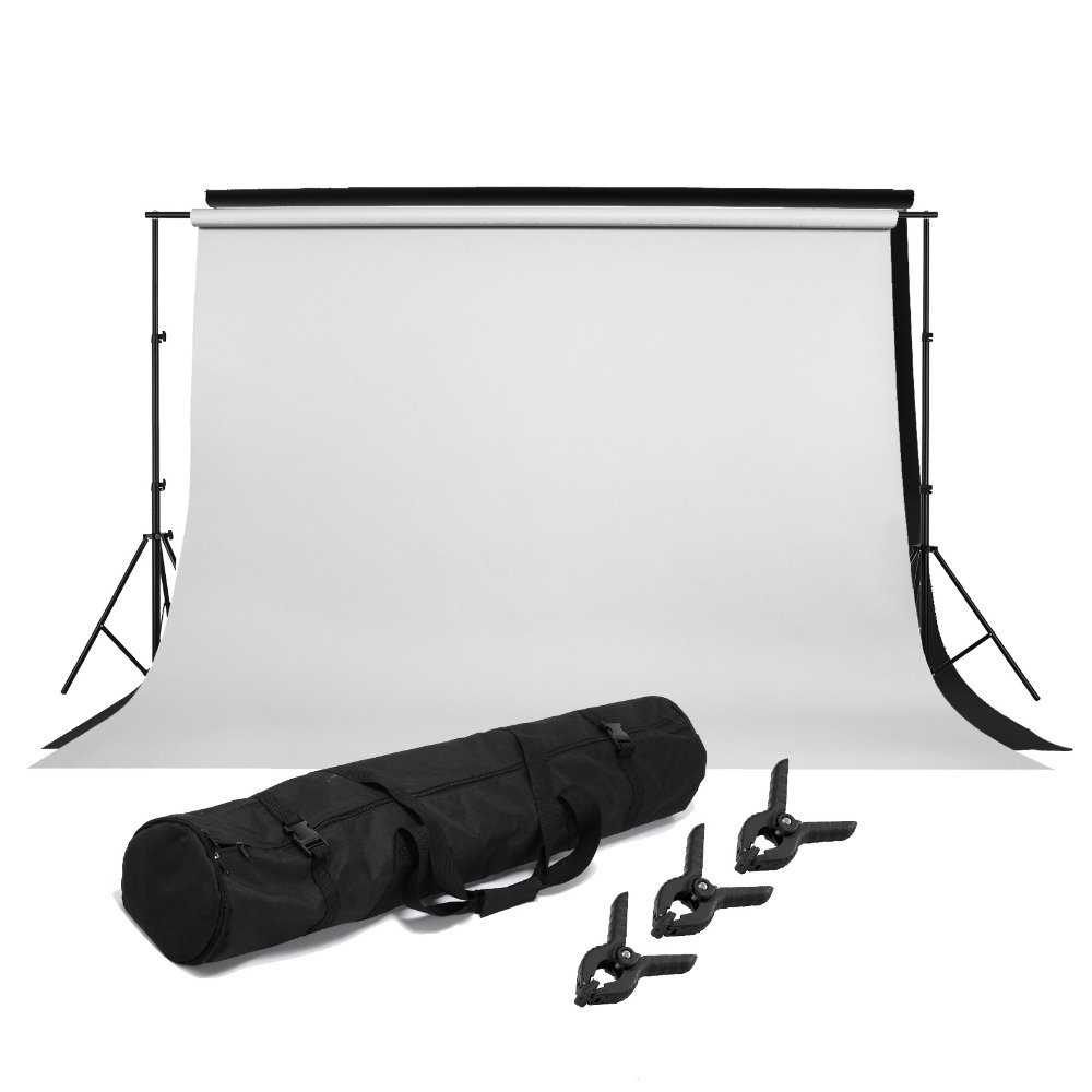 Selens Photo Video Studio Light Kit- Background Support Stands,Black White Seamless Cloth Photography Background,Background clip<br><br>Aliexpress