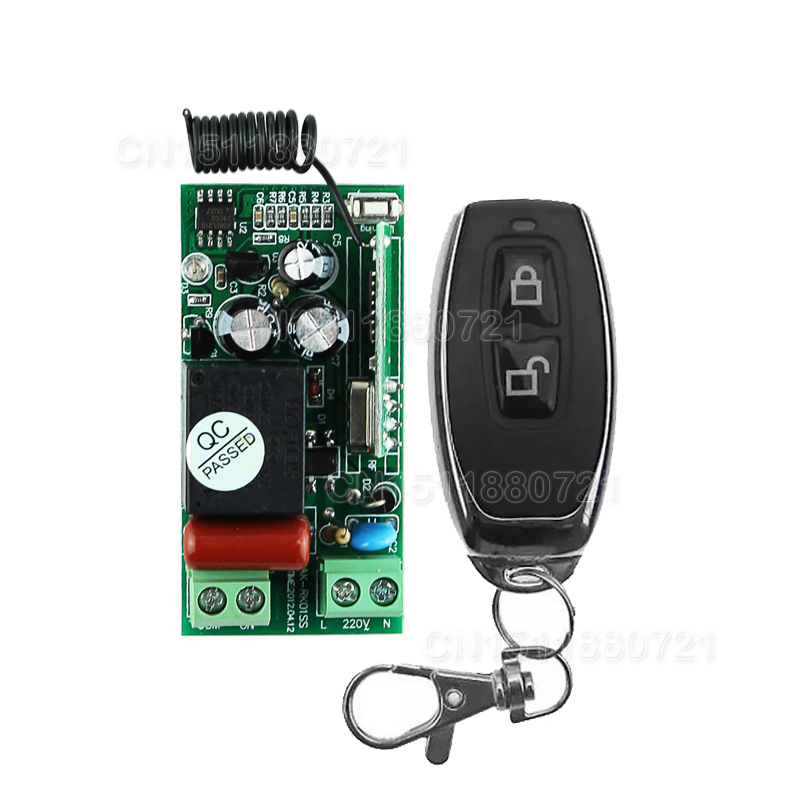 220V 1CH RF Wireless Remote Switch Wireless Light Lamp LED Switch Receiver & Transmitter 315/433 Remote ON OFF Controller(China (Mainland))