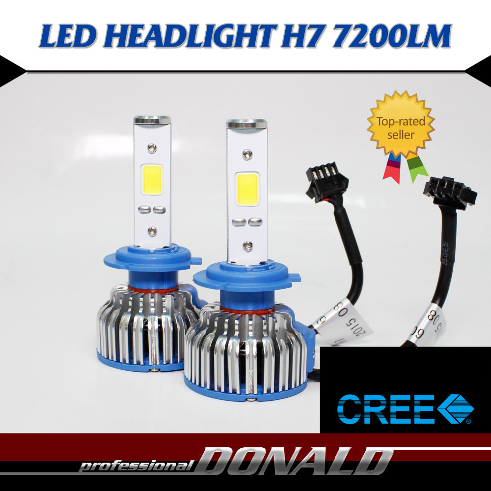 Factory Direct Sales!! 2x H7 CREE COB LED 48W 7200LM/Set White 6000K Car DRL Fog Driving Daytime Running Headlight Ultra Bright<br><br>Aliexpress