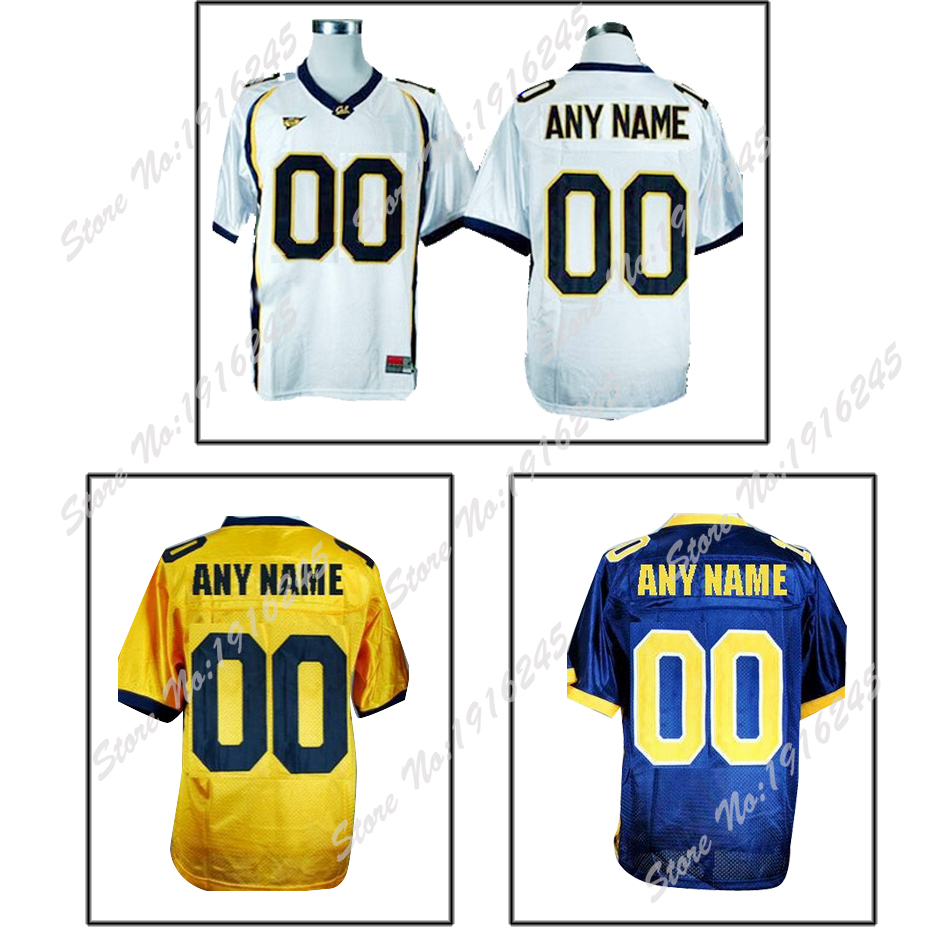 Personalized White Blue Yellow California College Golden Bears Football Jersey Custom Men Women 4X 5X 6X Accept NCAA Mix Order(China (Mainland))