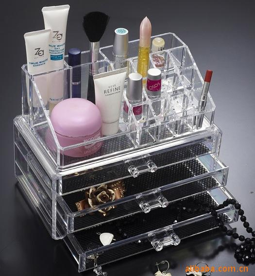 Organizer box for jewelry storage box in acrylic makeup - Boite de rangement maquillage acrylique ...