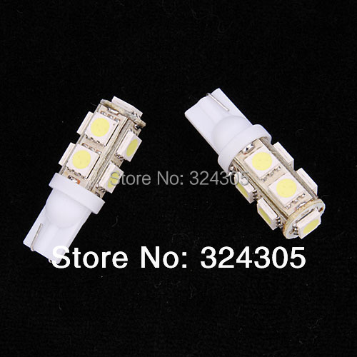Wholesale new 10X DC12V T10 194 W5W 9 SMD LED 5050 9SMD 9Led White Lamp Wedge Car LED light car styling red yellow blue pink(China (Mainland))