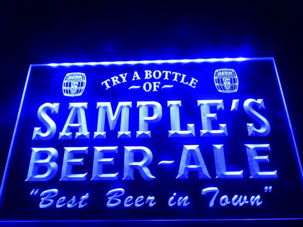 dz015 name personalized custom best beer ale home bar pub led neon light sign in plaques signs. Black Bedroom Furniture Sets. Home Design Ideas