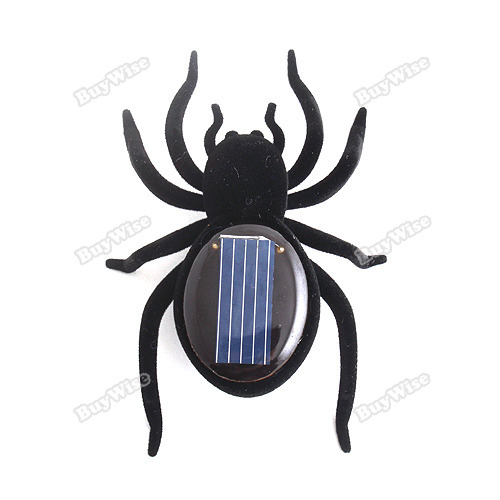 tomdeal Portable! Educational Solar Powered Black Spider Toy Gadget Kids New era(China (Mainland))