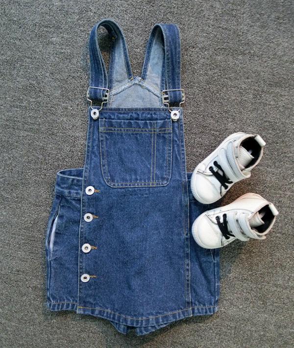 2016 new baby girls denim slip dress children spring/autumn summer jeans with shoulder-straps kids fashion suspender(China (Mainland))
