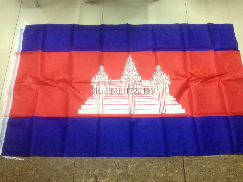 Free Shipping 90*150cm Hanging Cambodia National Flag Office/Activity/parade/Festival//Home Decoration 2014 New fashion(China (Mainland))
