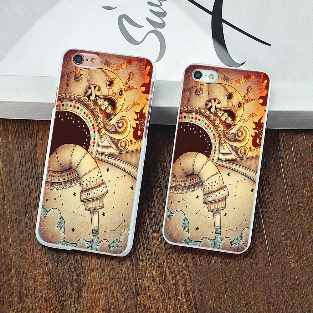 For iPhone7 7plus 5 5S SE 5C 6 6Plus 6sPlus 4 4S Phone Case Cover Fashion Cartoon machine vacuum cleaner design Mobile Phone Bag(China (Mainland))