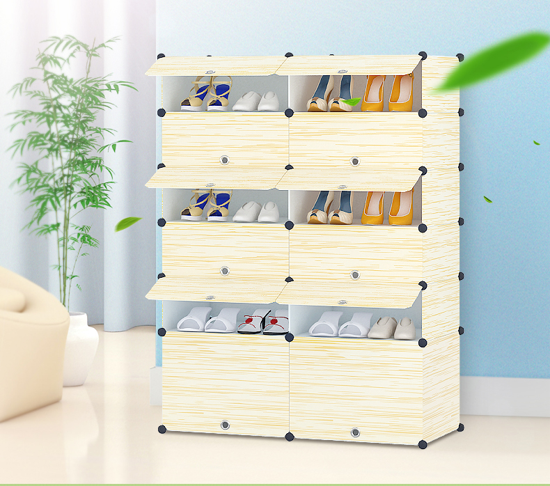 big size Simple DIY shoe rack creative modern multi-purpose shoe cabinet home furniture storage living room decor(China (Mainland))