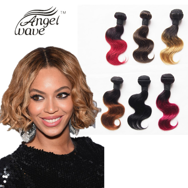 Amapro Hair Products 3pcs Free Shipping Ombre Hair Bundles Short Body Wave Weave Human Hair 10inch 50g/bundle Two Tone Color(China (Mainland))