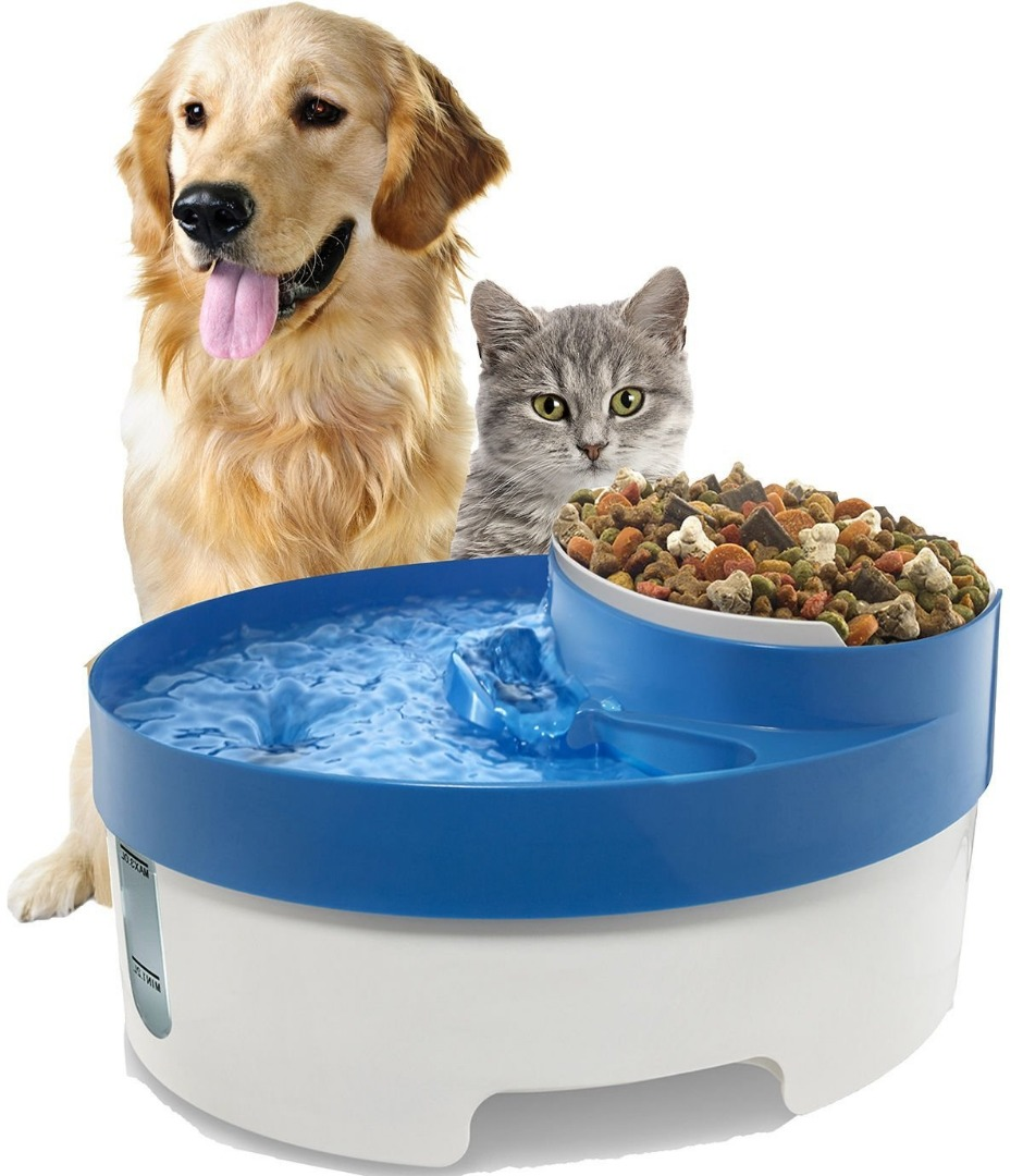 3 in 1 Pet Drinker Dog Bowl Automatic Pet Feeder And Water Supplier Automatic Dogs Feeding Cat Bowl Dog Water Fountain(China (Mainland))