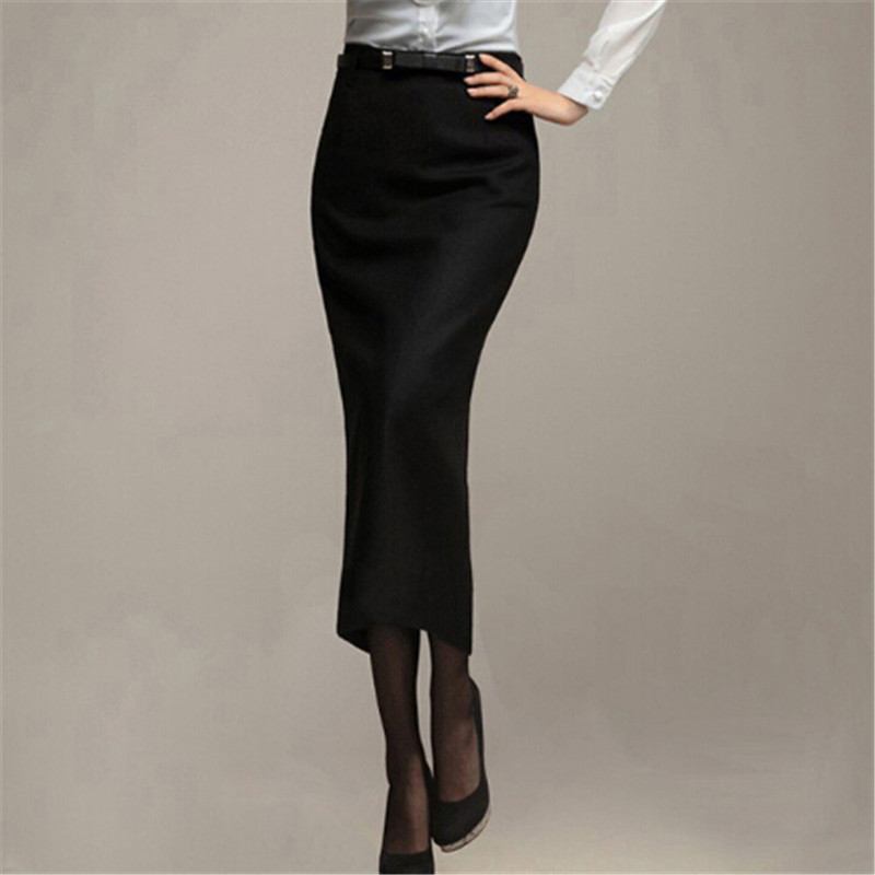 Long black office skirt – Fashionable skirts 2017 photo blog