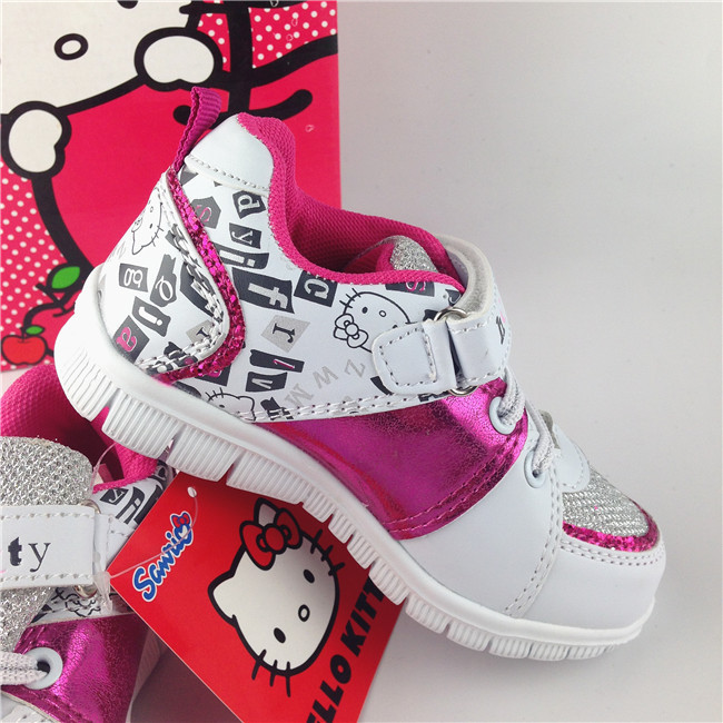 HELLO KITTY Children Sport Shoes PU Sneakers girl kid Run child sport casual skateboarding shoes Travelling - Cricco Store store