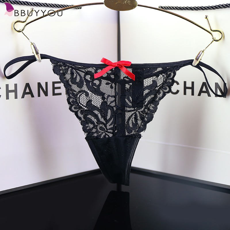 Floral Lace Panties G String Underwear Women T Style Nylon Thongs With Cute Bow Sexy Lingerie Calcinha Tanga S to XXL [UK Size](China (Mainland))