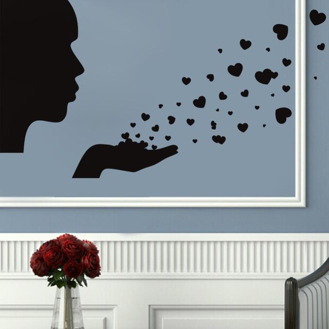 Люди дует любовь на стены съемных украшения дома отличительные знаки бесплатная доставка обои 8368
