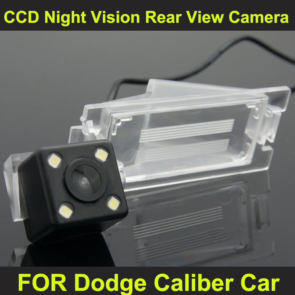 CCD night vision with 4 LED lamps Car Rear View Reverse Camera for Dodge Caliber Car(China (Mainland))