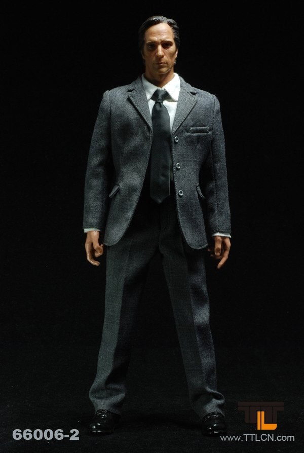 """TTL 66006-2 1/6 men's grey suit with Prison Break Ma Hong Head sculpt and Body 12"""" Collectible action Figure DIY in stock(China (Mainland))"""