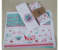 Eco friendly Cotton Tea Towel Placemat Mat Dining Table Mat Pad Heat Resistant Cup Pad Coaster