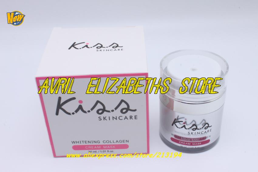 Kiss Skincare Whitening Collagen Cream Mask 30ML Anti Wrinkle Moisturizing Freckle Face - Avril Elizabeth's Store store