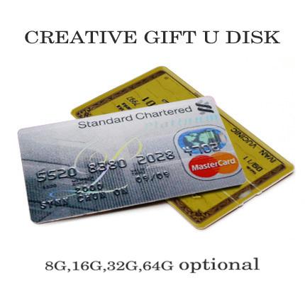 Real Capacity Waterproof Super Slim Bank Credit Card Shape USB Flash Drives pen drive 4GB 8GB 16GB 32GB Flash Drive pendrive(China (Mainland))