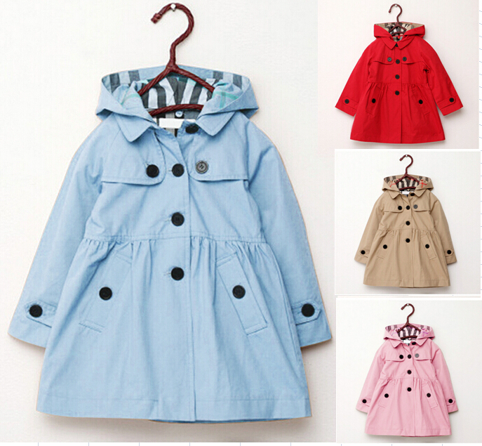 Kids Girl Clothes Children Fashion Coat 2015 Autumn Spring Outwear kids Jackets Winter jacket Children's Clothing girls 4 Color(China (Mainland))