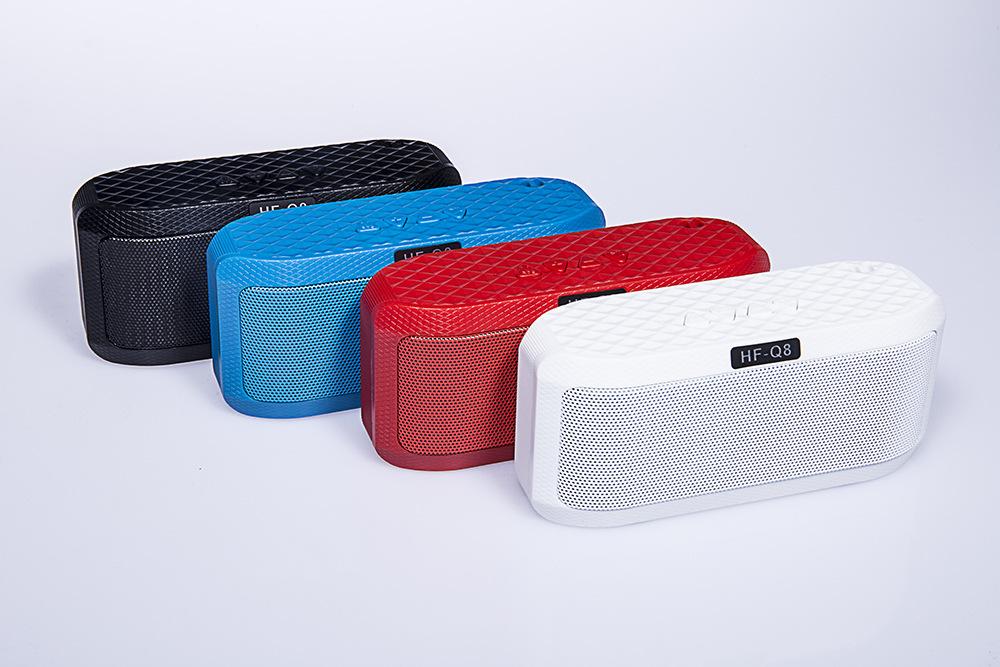 20pcs/lot Portable Mini LED Lights Wireless Stereo Bluetooth Speaker TF FM Radio Mic MP3 Virtual Surround For Smartphone(China (Mainland))