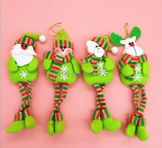 2014 new 4 pieces new year Christmas tree pendant doll for christmas decoration(China (Mainland))