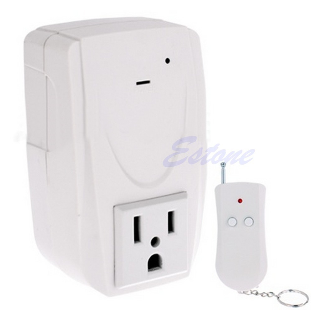 1 PC US Plug Digital Wireless Remote Control Power System Outlet Socket Switch 110V(China (Mainland))