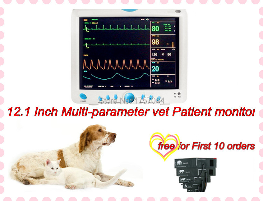 FREESHIPPING Happymom Cheap 12.1 inch Vet Patient Monitor Animal Dog Patient Monitor(China (Mainland))