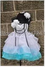 free shipping !! Vocaloid Miku Hatsune Cosplay Costume Full Set