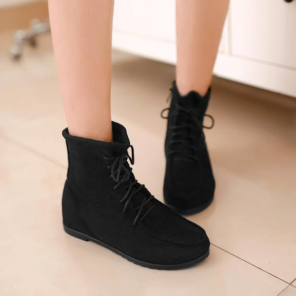 Ankle Flat Boots For Women - Boot Hto