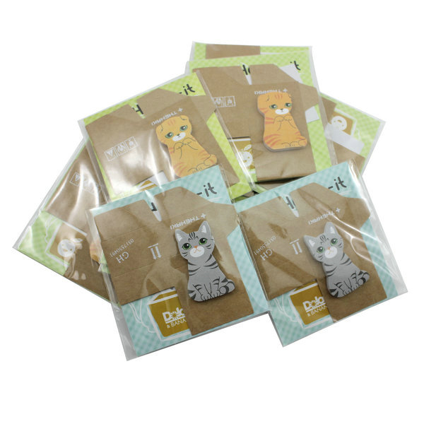 New 2015 60page New 3D Cat Shape Sticky Note Message Pad Bookmark Memo Marker Tab Post It(China (Mainland))