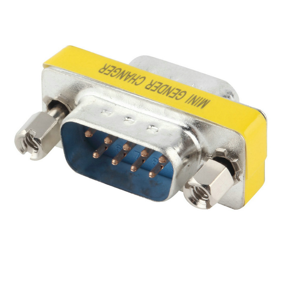 1pcs 9 Pin RS-232 DB9 Male to Male Serial Cable Gender Changer Coupler Adapter Hot WorldwidePromotion(China (Mainland))