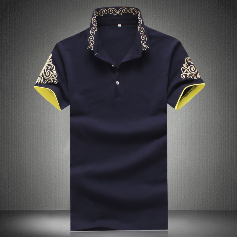 2015 mens polo shirts summer new arrived large size famous brand men short sleeve POLO shirt River 5 color polo brand big 5xl(China (Mainland))