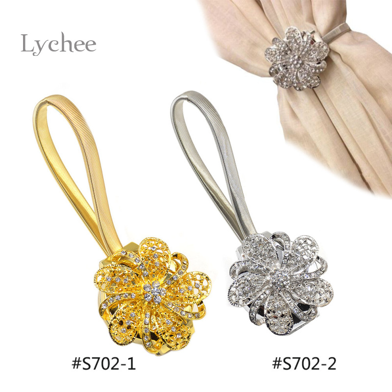 1 Piece Europe Style Magnetic Crystal Flower Shape Curtain Buckle New Arrival Curtain Accessories(China (Mainland))