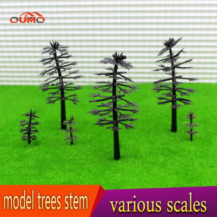 100PCS/SET TOP QUALITY MULTI TRAIN RAILROAD TREE ARMATURES MODEL HO SCALE TREES TRUNK TREES LAYOUT(China (Mainland))