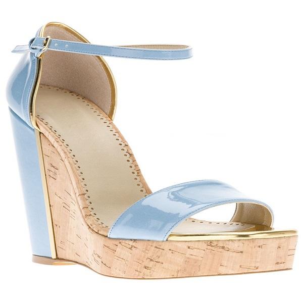 2015 New Elegant Wedges Women Sandals Ankle Strap High Heels Platform Patent Leather Summer For Dress Lladies Shoes<br><br>Aliexpress