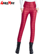 2016 Women Winter Pants Plus Velvet Thickening Slim Thermal Female Warm Trousers Legging High Waist Down Pants Christmas Gift(China (Mainland))