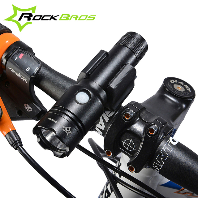 Bicycle Rechargeable Torch Light 3-Modes Waterproof V1-T6