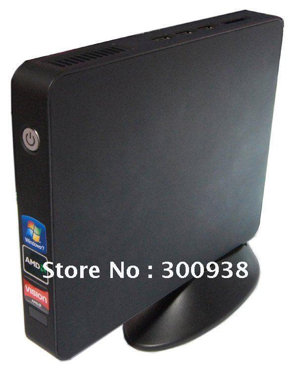 Latest mini pc with AMD Fusion E350 Dual-core 1.6Ghz,2GB RAM&160GB HDD,Windows XP OS, WIFI ,HDMI ,6 USB port(Hong Kong)