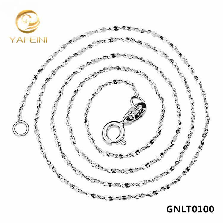 Wholesale 925 Sterling Silver Chain Necklace For Women New S925 Silver Jewelry 1mm Width Sky Star Chain Necklace 18inch GNLT0100(China (Mainland))