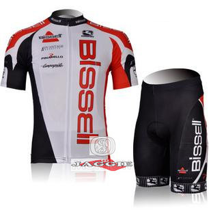 Free shipping! Bissell 2012 racing team cycling jersey and shorts short sleeve jersey+pants bike bicycle riding wear set(China (Mainland))