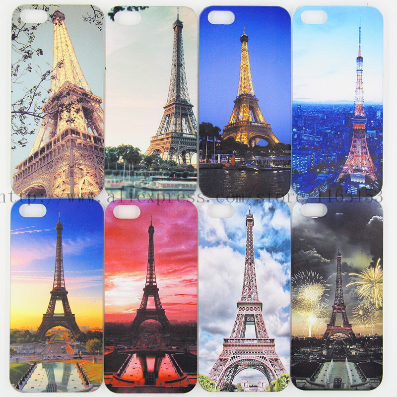 2015 Free Shipping painted Eiffel Tower Design cases i mobile cell phone bags clear for Apple iphone 4 4s 5 5G 5S case(China (Mainland))