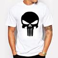 The Punisher Skull Men Fashion T Shirt Print Marvel Comics Supper Hero Clothes HIP HOP Style