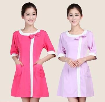 Medical uniforms 2015 nursing scrubs Clothes For Beauty Shop Short Sleeve Doctor Clothing uniformes hospital women Work dress(China (Mainland))